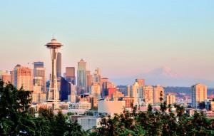 Seattle Skyline with Mt. Rainier in Background